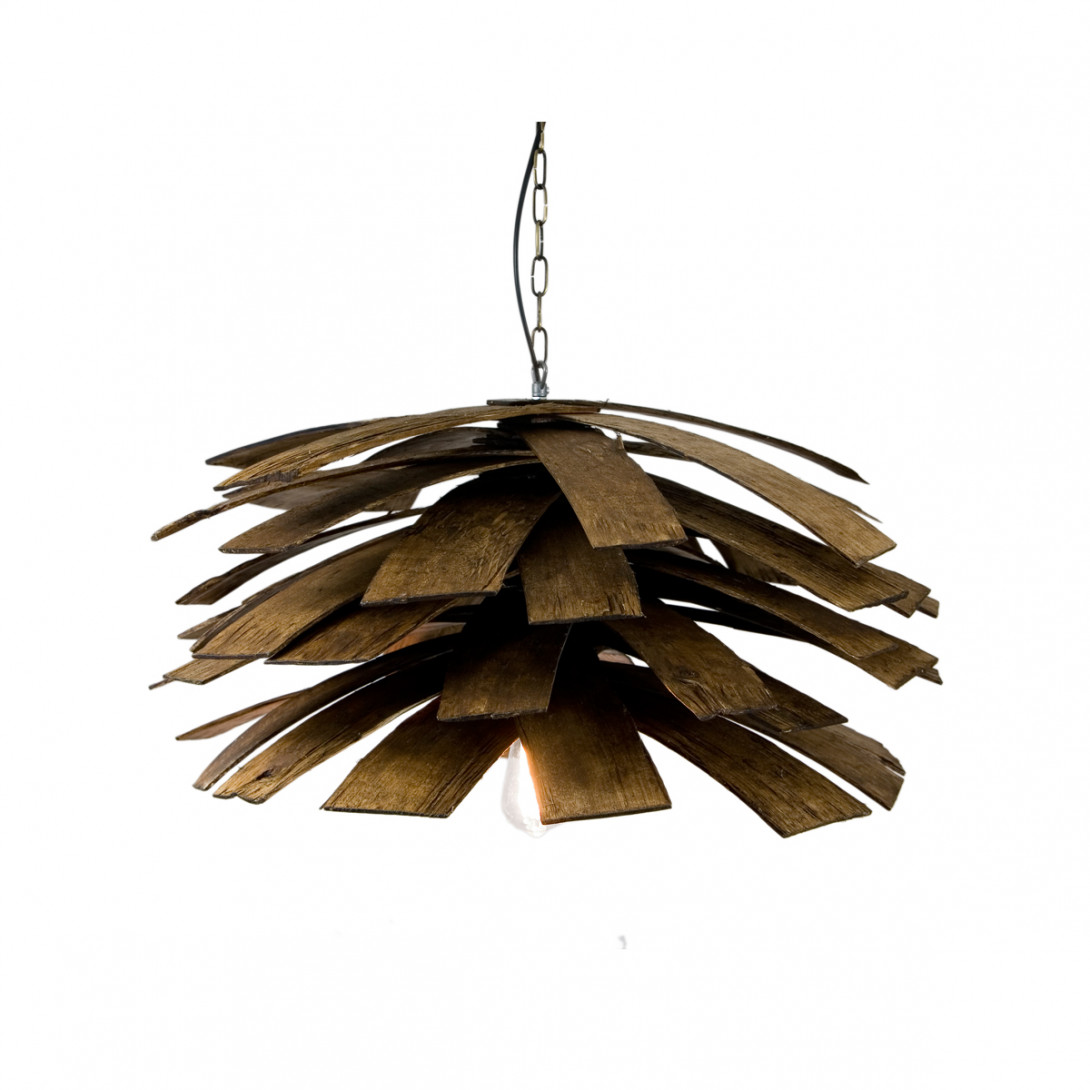 Lampa wisząca drewniana SHINGLE LGH0240