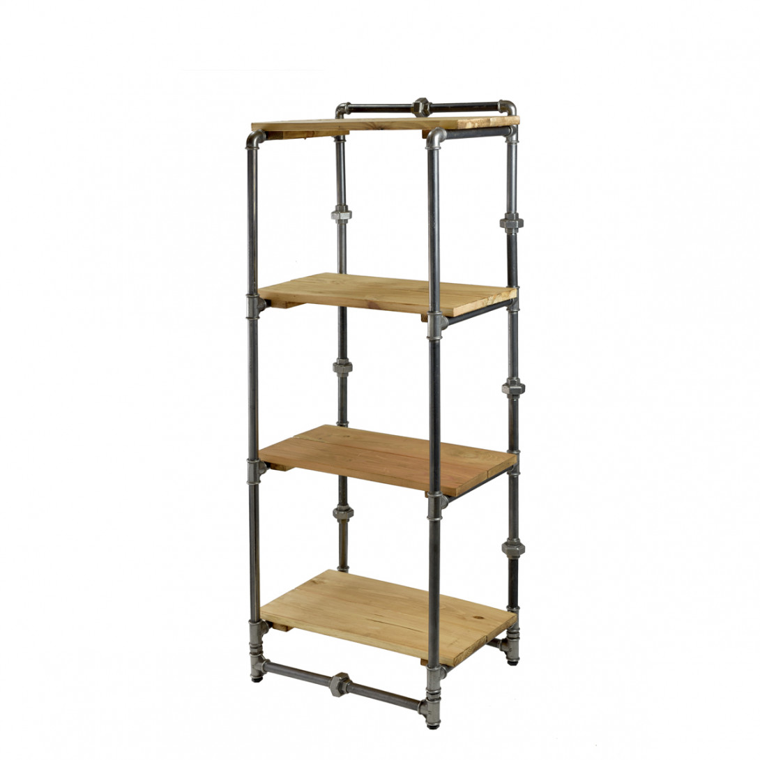 Bookcase with black steel tubes TONY II FUR0042 - gie el