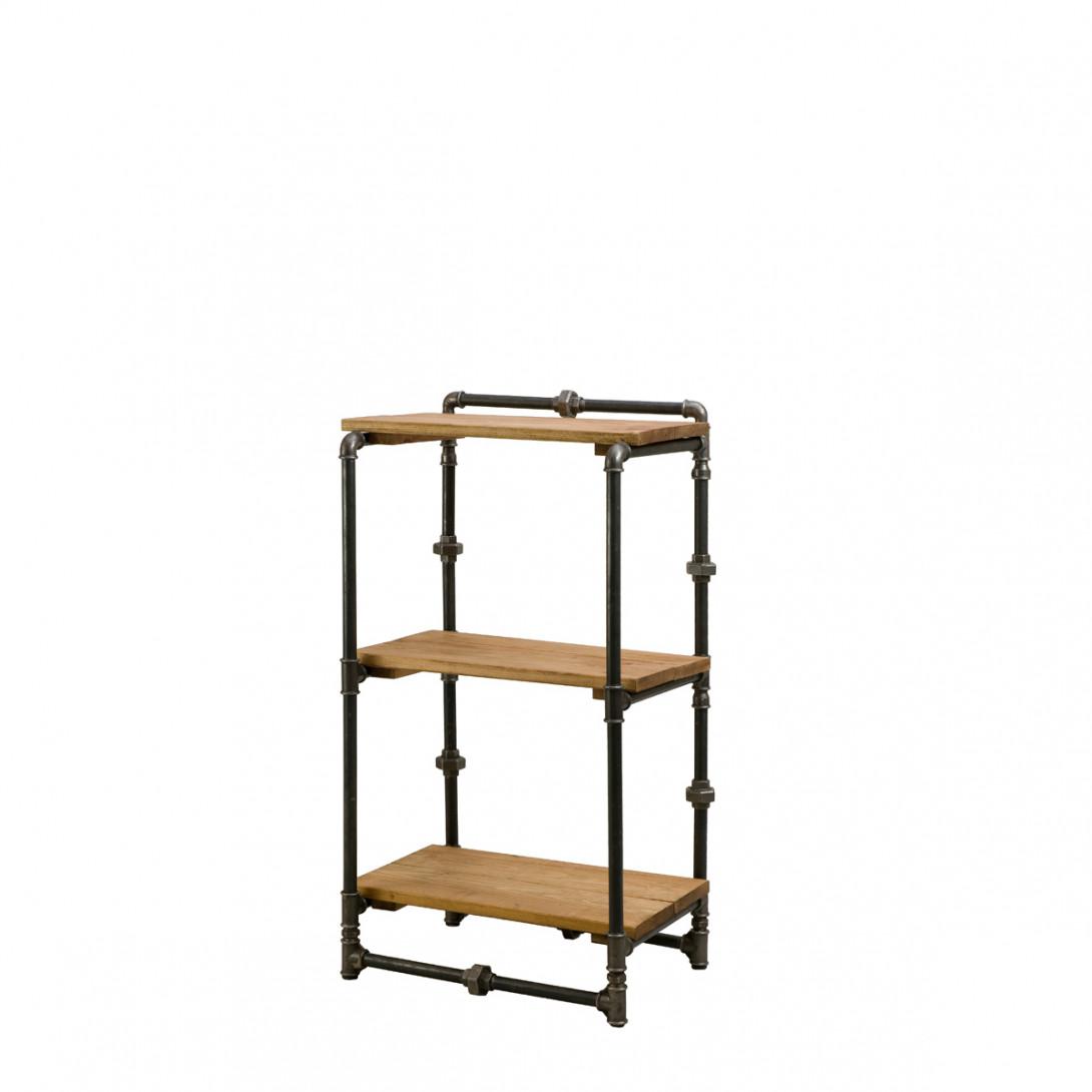 Bookcase with black steel tubes TONY I FUR0041 - gie el