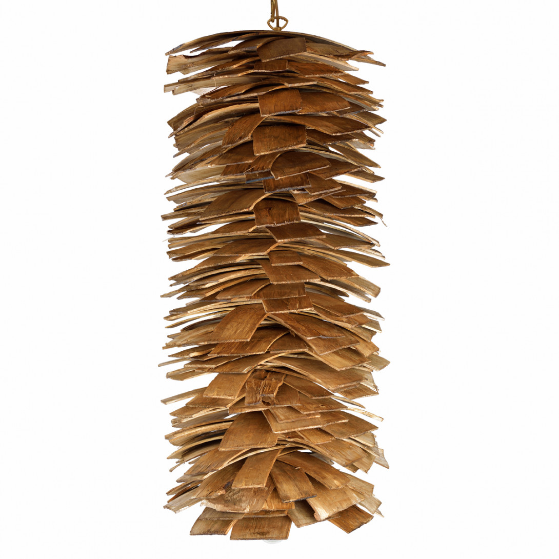 Lampa wisząca drewniana SHINGLE LGH0246