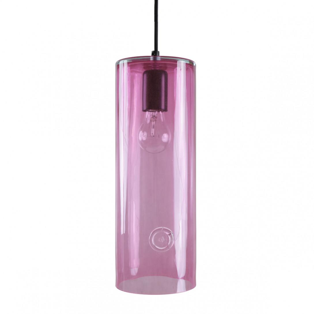 Glass pendant lamp NEO III LGH0402 pink