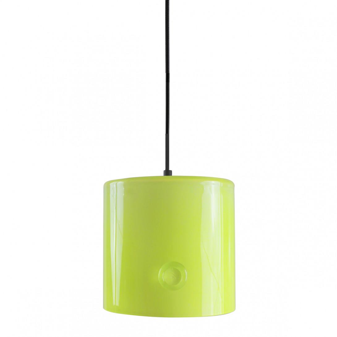 Lampa wisząca szklana NEO I limonkowa LGH0421