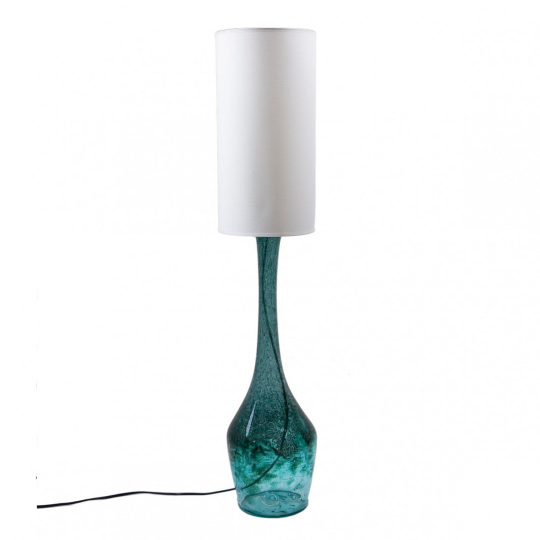 Glass table lamp ANGEL turquoise LGH0171