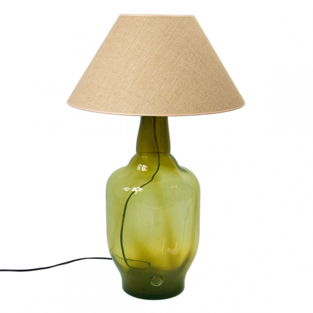 Glass table lamp BEE olive LGH0182