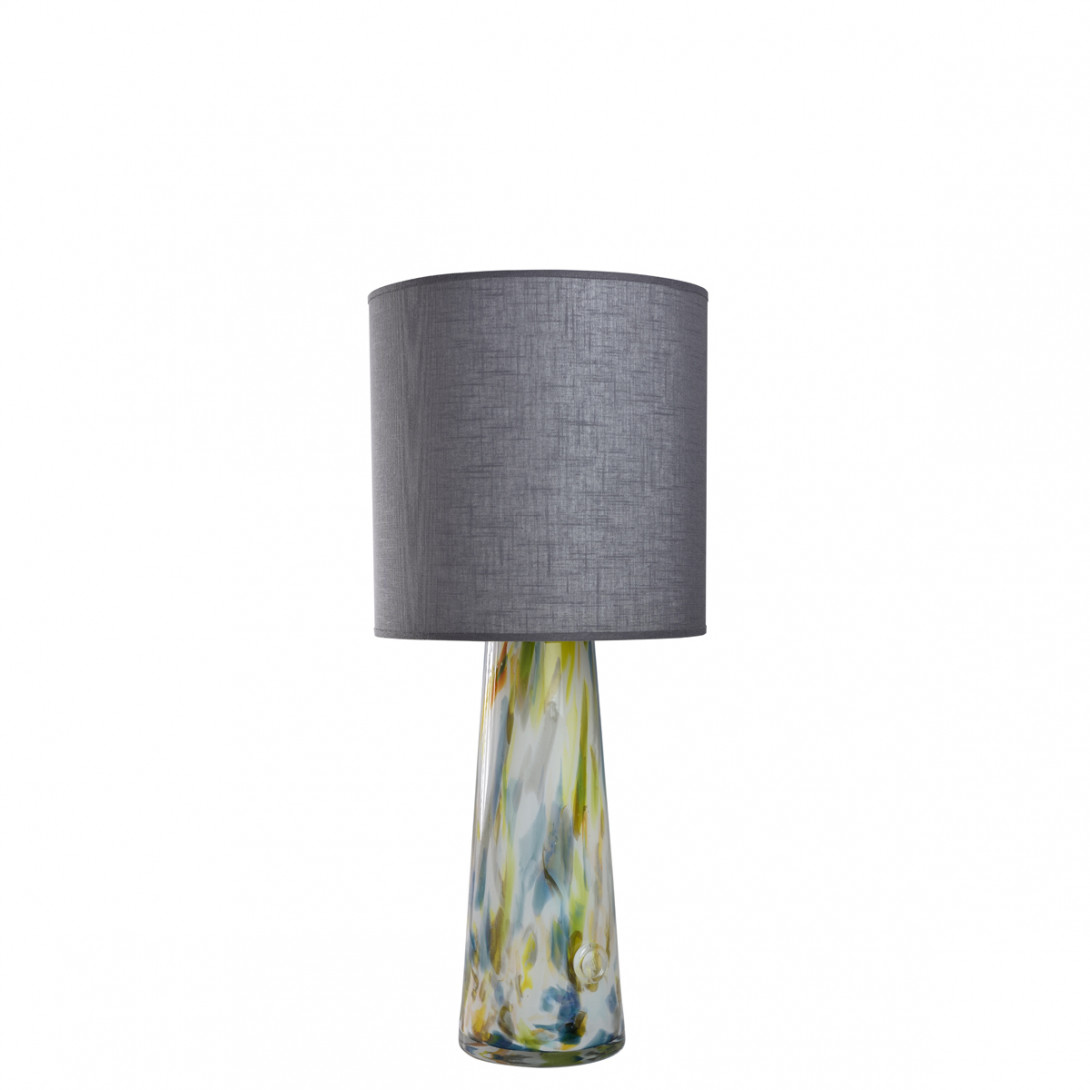 Glass table lamp with lampshade VOLCANO I LGH0582