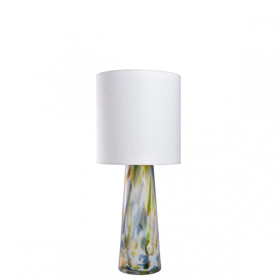 Glass table lamp with lampshade VOLCANO I LGH0583