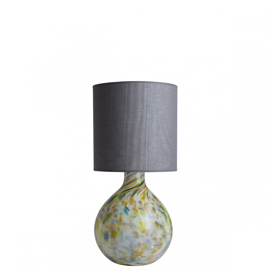 Glass table lamp with lampshade GALAXY II LGH0584