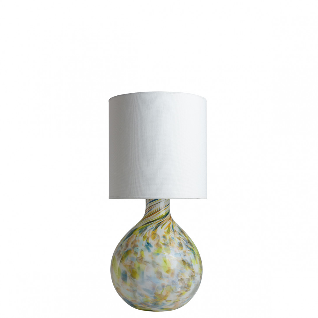 Glass table lamp with lampshade GALAXY II LGH0585