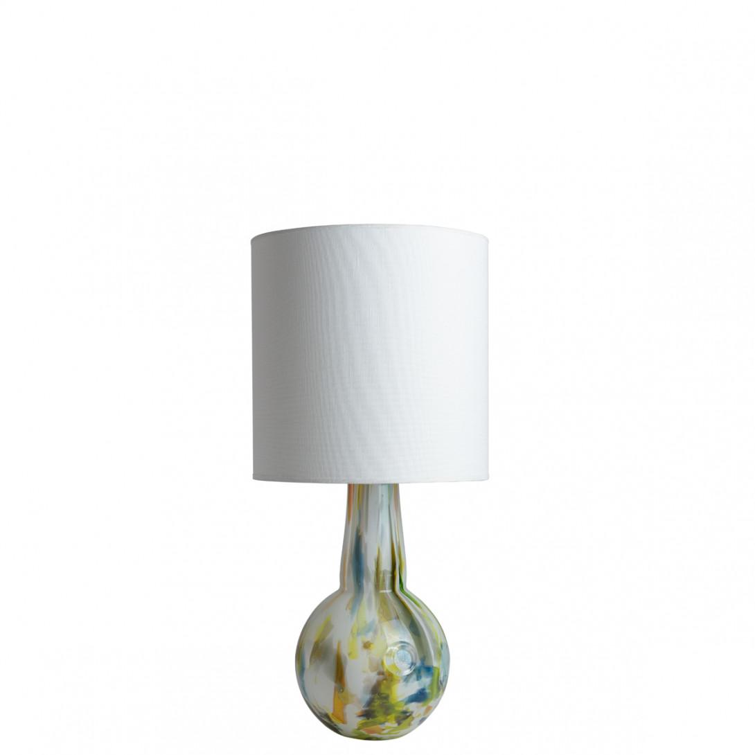 Lampa stołowa szklana z abażurem GALAXY I LGH0587