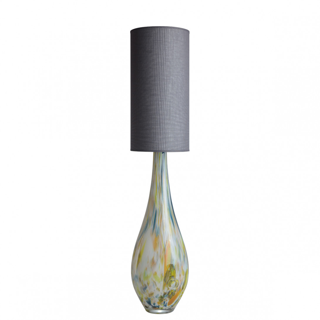 Glass table lamp with lampshade ROCKET LGH0588