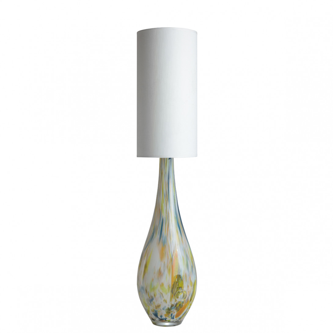 Glass table lamp with lampshade ROCKET LGH0589