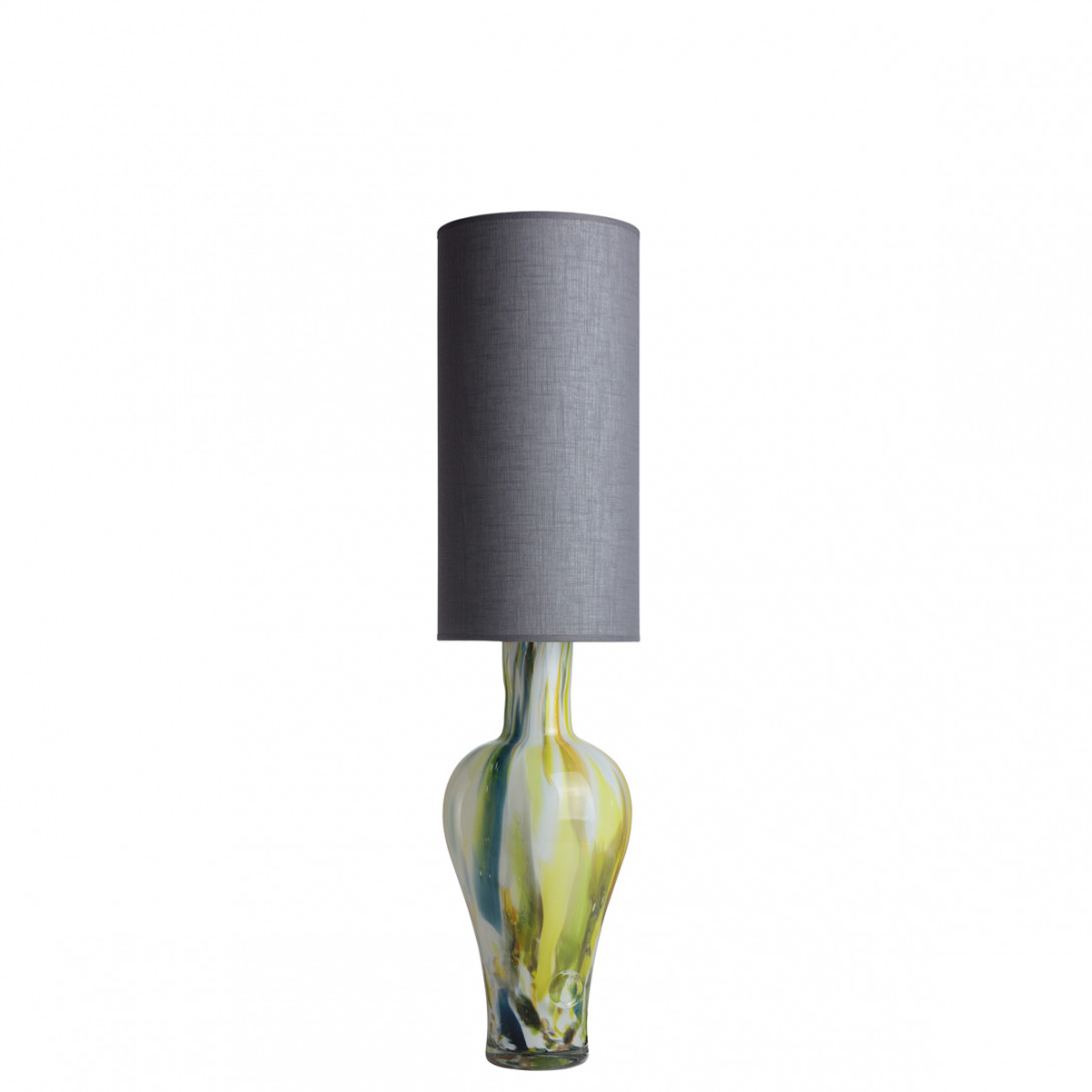 Glass table lamp with lampshade APOLLO LGH0590