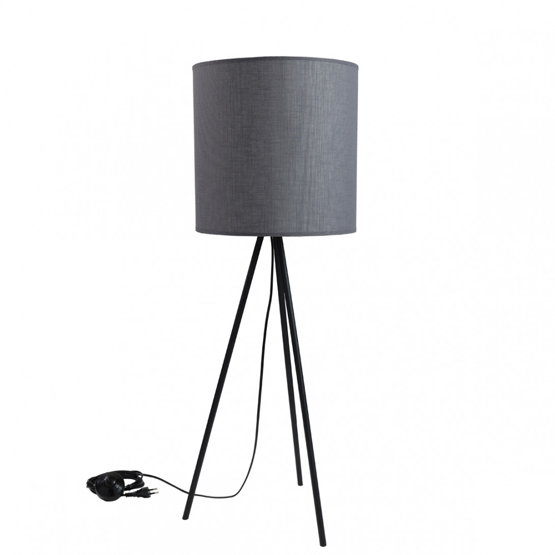 Lampa stołowa TRINITY II szara LGH0512 - gie el