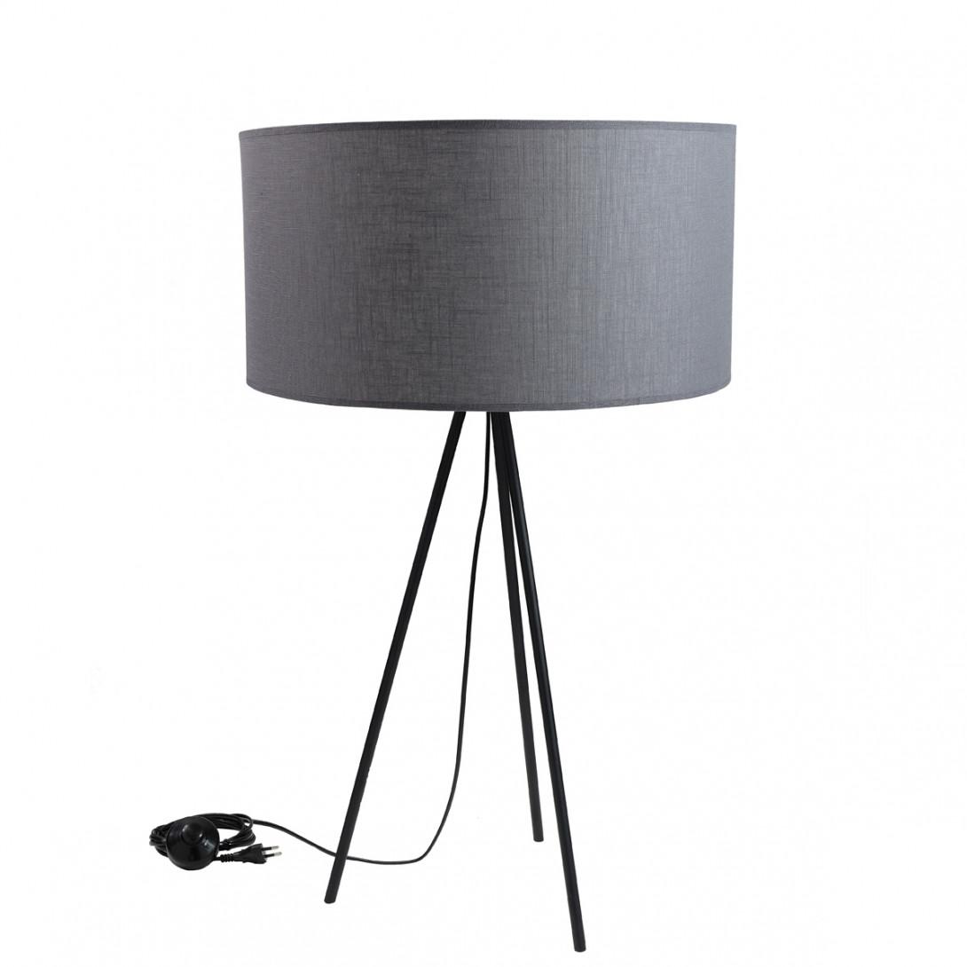 Lampa stołowa TRINITY III szara LGH0510 - gie el