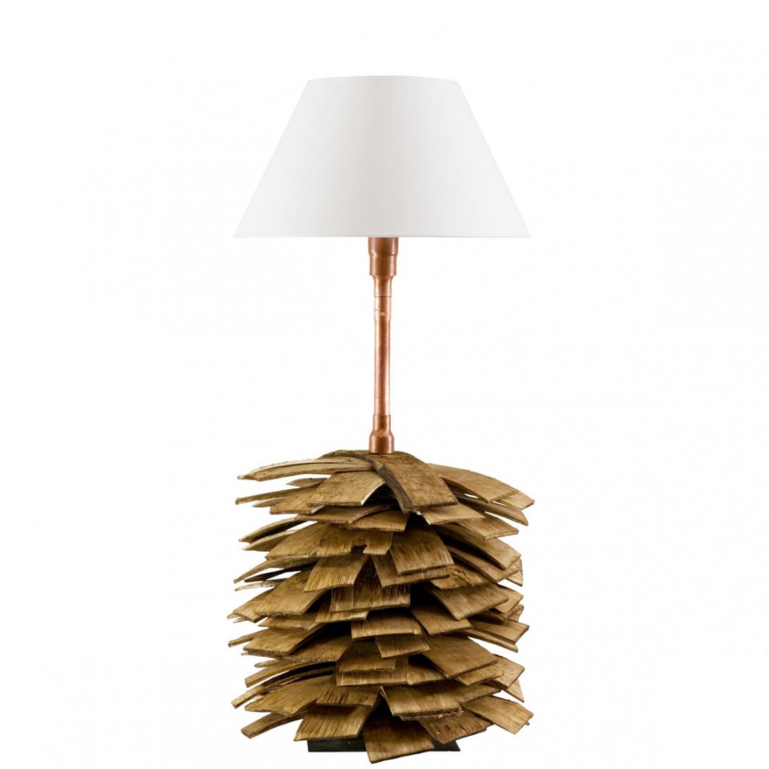 Lampa stołowa drewniana SHINGLE LGH0242 - gie el
