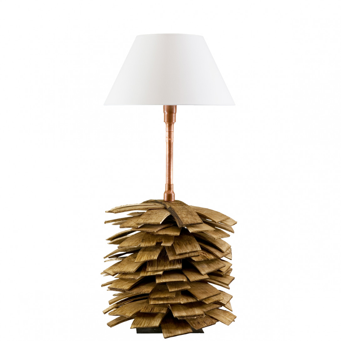 Wooden table lamp SHINGLE LGH0242