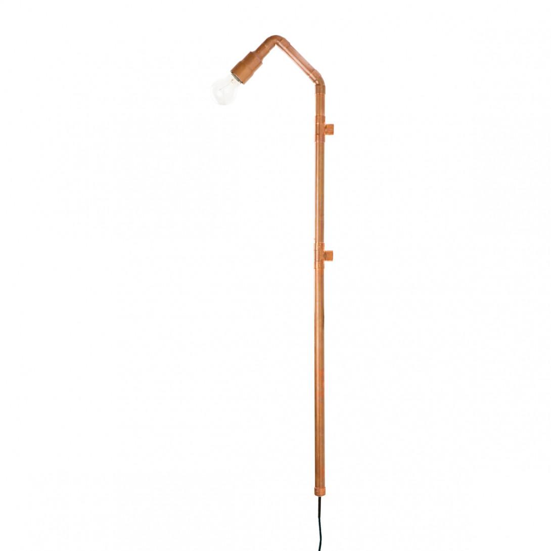 Lampa ścienna miedziana z rurek WAND LGH0271