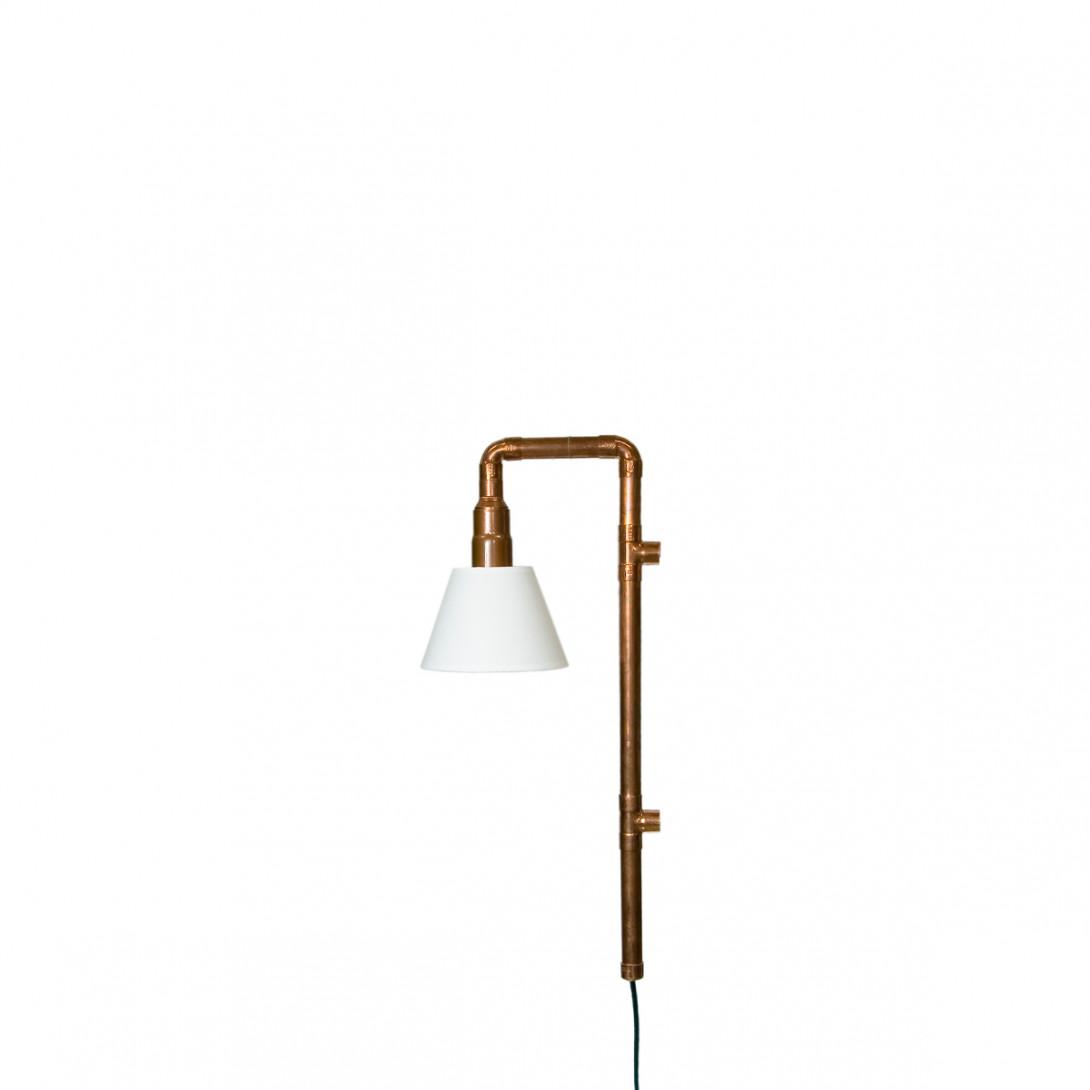Lampa ścienna miedziana z rurek WAND z abażurem LGH0272 - gie el