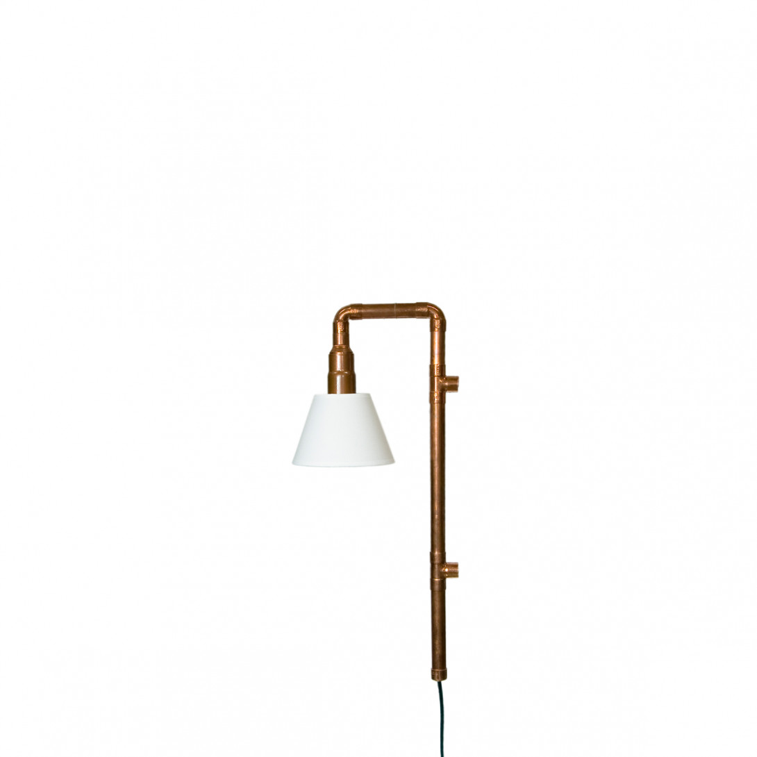 Wall lamp WAND copper with lampshade LGH0272