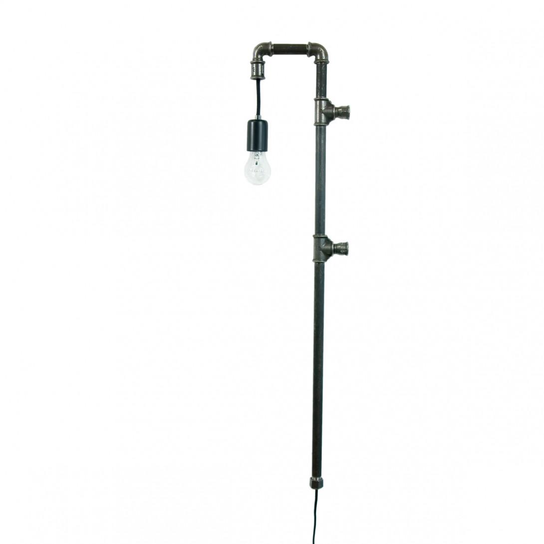 Lampa ścienna stalowa WAND z rurek czarna LGH0281