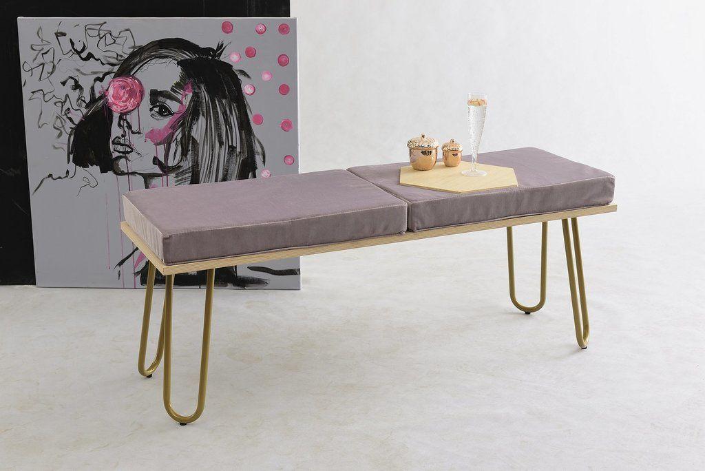 Ławka CORGI I różowo-złota FST0372 - Gie El