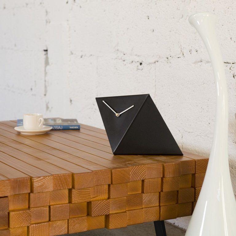 Zegar biurkowy BIRD czarny ACL0010 - Gie El
