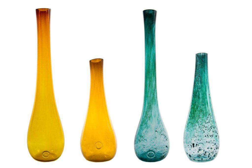 Szklany wazon STALACTITE BIG miodowy AGL0100 - Gie El