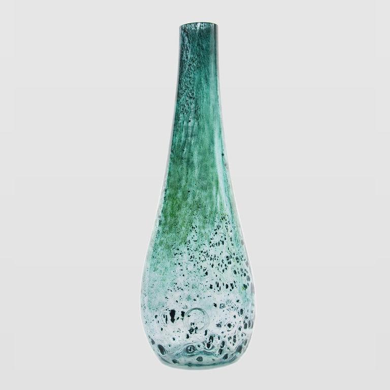Szklany wazon STALACTITE turkusowy AGL0111 - Gie El