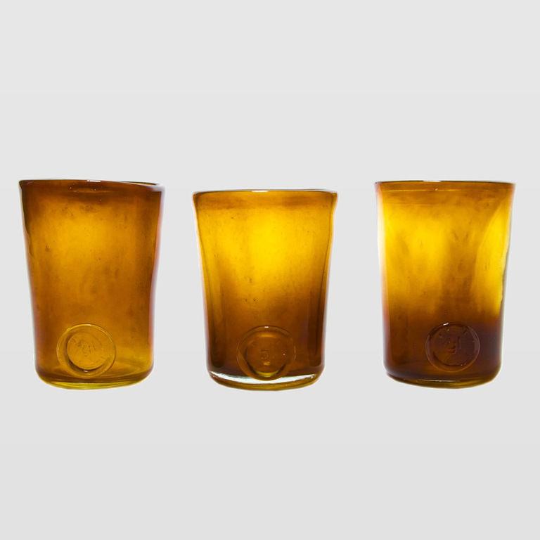 Zestaw 3 szklanek miodowych TRIO AGL0130 - Gie El