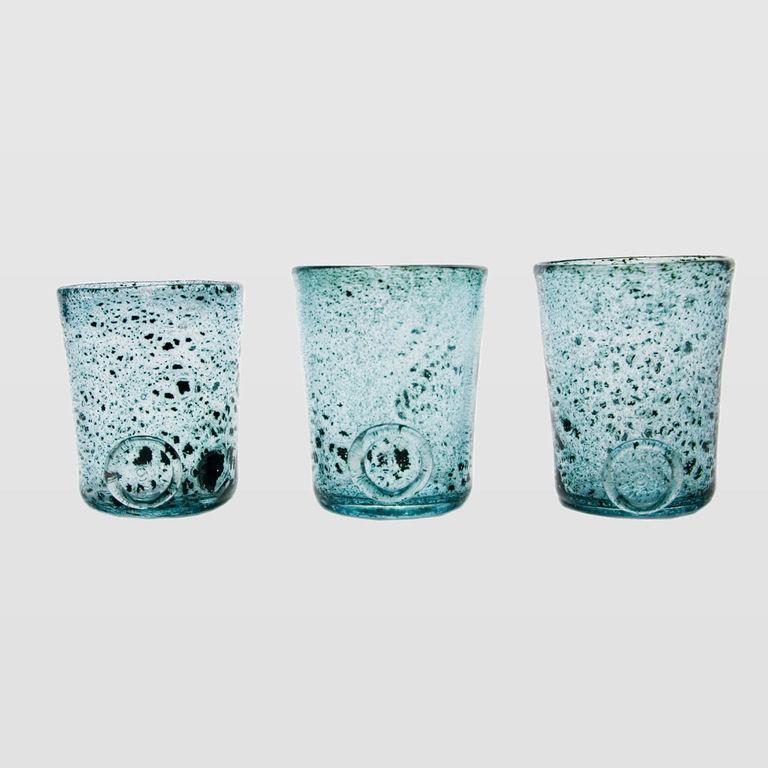 Zestaw 3 szklanek turkusowych TRIO AGL0131 - Gie El