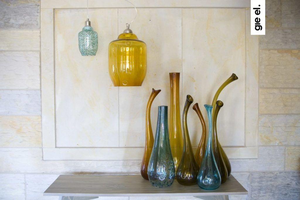 Wazon szklany SWAN średni oliwkowy AGL0152 - Gie El