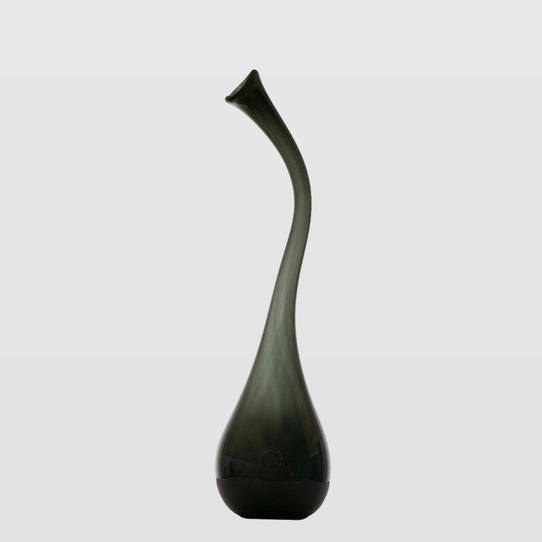 Wazon szklany SWAN średni szary AGL0153 - Gie El