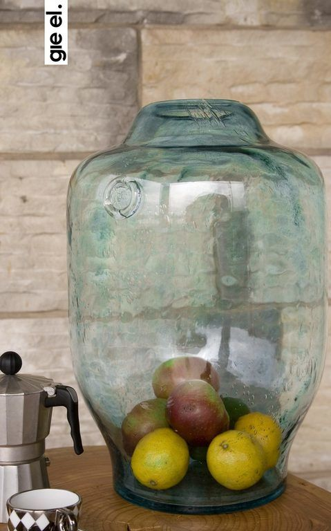 Wazon szklany BEE turkusowy AGL0171 - Gie El