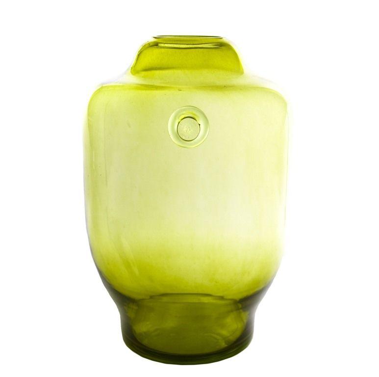 Wazon szklany BEE oliwkowy AGL0172