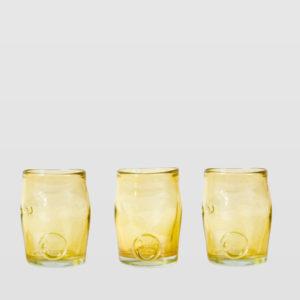 Zestaw 3 szklanek złotych SQUEEZED TRIO AGL0260 - Gie El