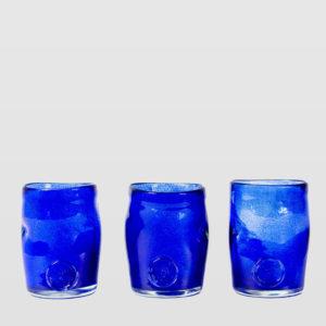 Zestaw 3 szklanek atramentowych SQUEEZED TRIO AGL0261 - Gie El