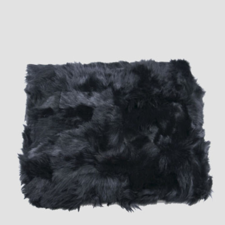 fur bedspread BALCK SHEEP