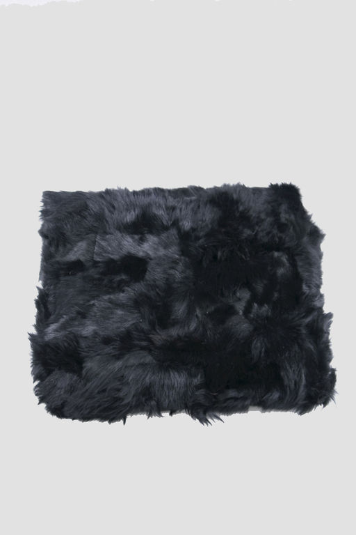 fur bedspread BALCK SHEEP