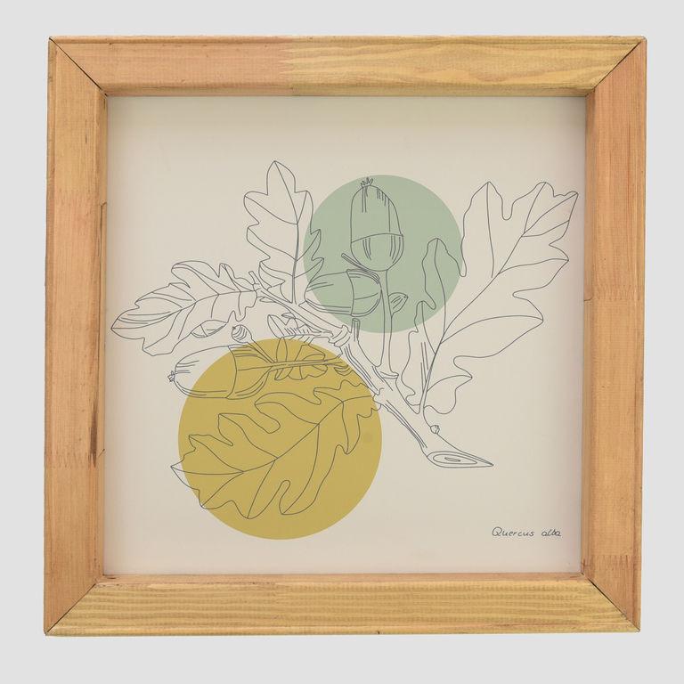 Graphic oak leaves APC0062