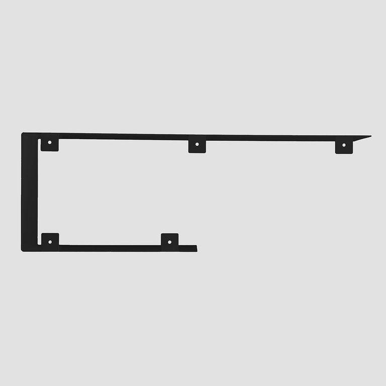 Półka asymetryczna C czarna ASH0060 - Gie El