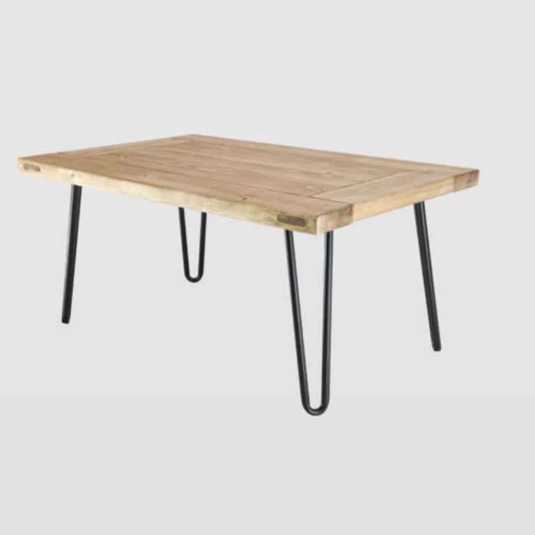 Coffee table VILLAGE DOOR black legs FCT0010