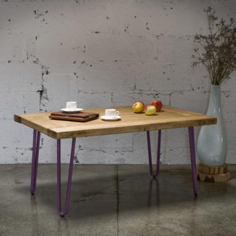 Coffee table VILLAGE DOOR purple legs FCT0013
