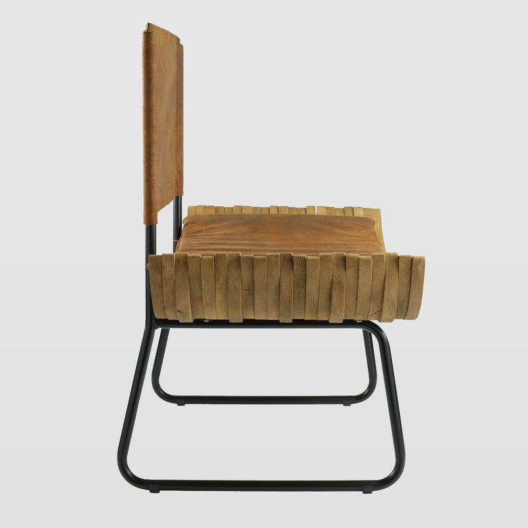 Fotel drewniany ORGANIQUE FST0280 brązowe siedzisko - Gie El