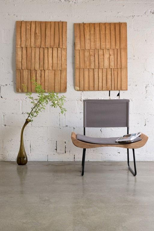 Fotel drewniany ORGANIQUE FST0281 szare siedzisko - Gie El