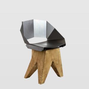 Stalowe krzesło na drewnianej bazie KNIGHT FST0312 - Gie El