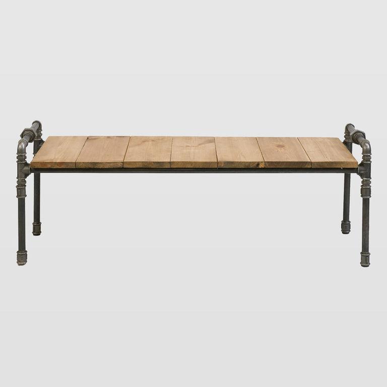 Ława drewniana ze stalowych rurek LUIGI FUR0040 - Gie El