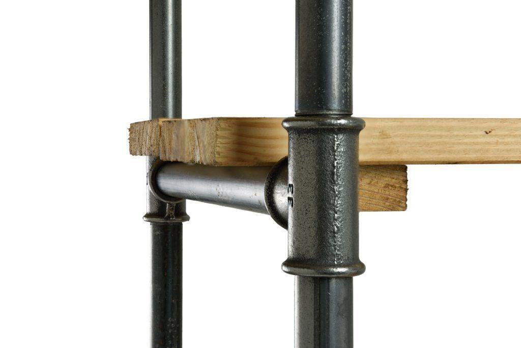 Details in steel bookcase FUR0042