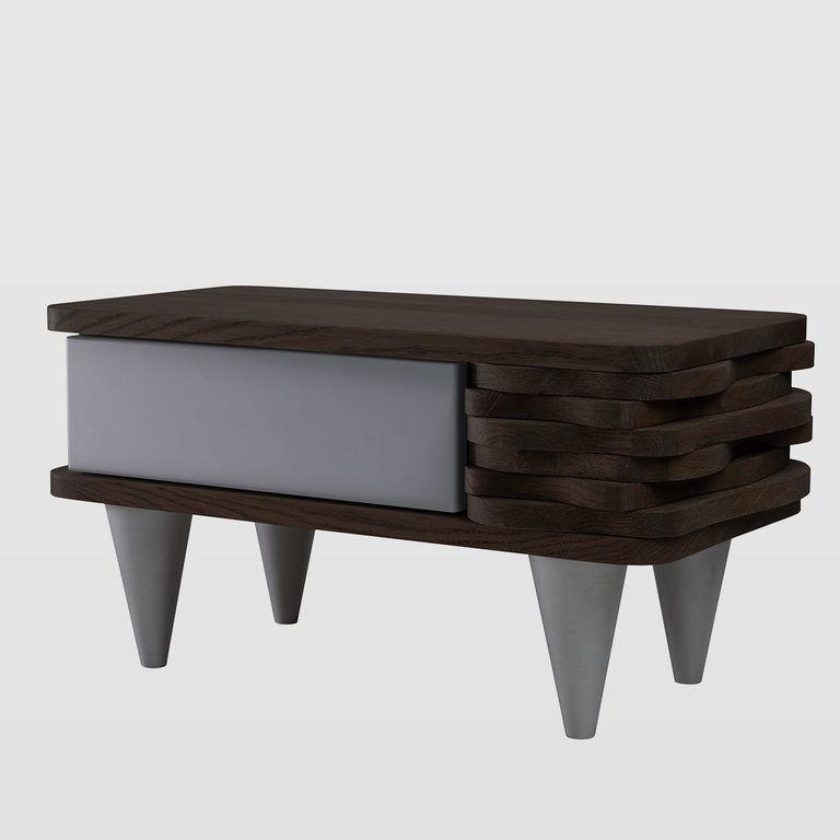 Bedside table oak wood FUR0141