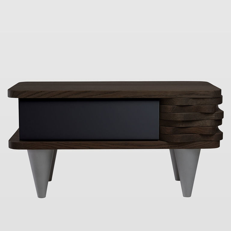 bedside table black drawer FUR0142