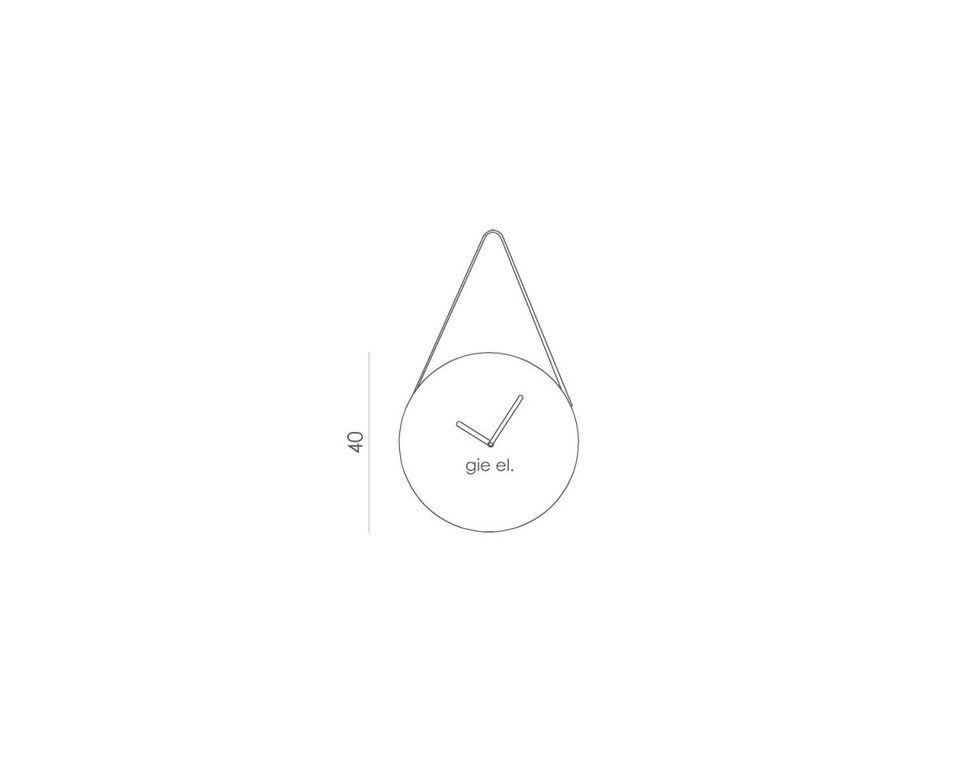 Zegar ścienny ROUND czarny ACL0030 - Gie El